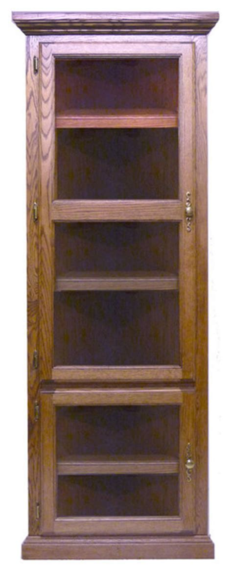 Corner Bookcase With Doors Traditional Corner Bookcase With Glass Doors Traditional Bookcases By Oak Arizona