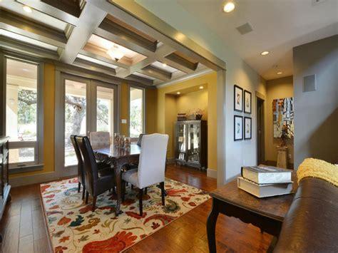 modern craftsman green home craftsman dining room