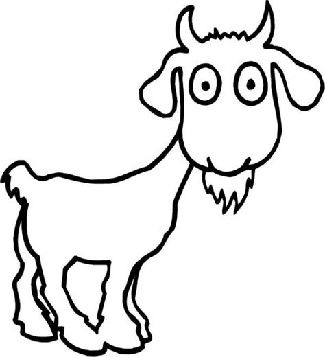 goat coloring pages goat coloring pages clipart best
