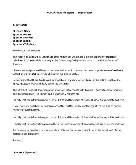 cover letter for affidavit of support affidavit of support letter dolapgnetband