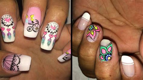 imagenes de uñas decoradas gratis para descargar decoraci 243 n de u 241 as vintage 4 dise 241 os vintage nail art de