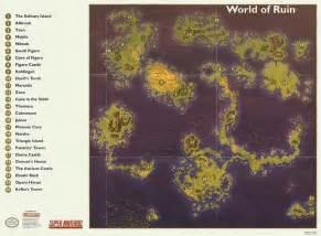 Ff6 World Map by Gallery For Gt Final Fantasy 3 Map