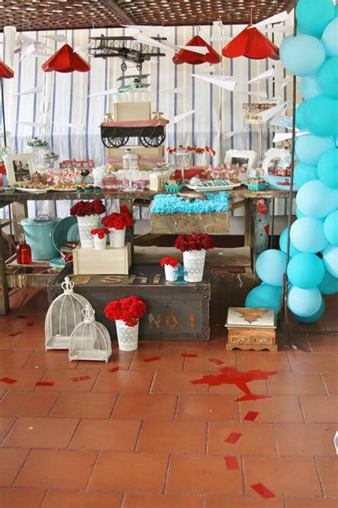Vintage Baby Shower Decorations by Kara S Ideas Vintage Airplane Baby Shower Ideas