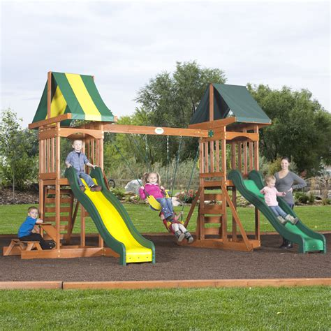 cedar backyard playsets backyard discovery fort talon all cedar play set free