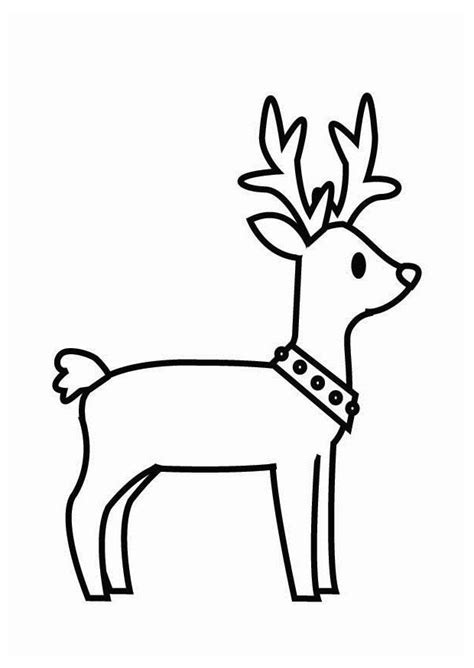imagenes navideñas para colorear de renos dibujo para colorear reno de navidad img 26704