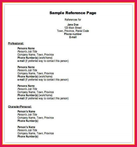 references for resume sample sample resumes