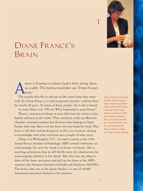 the and mind of frances pauley books sle chapter 1 diane s brain bone detective