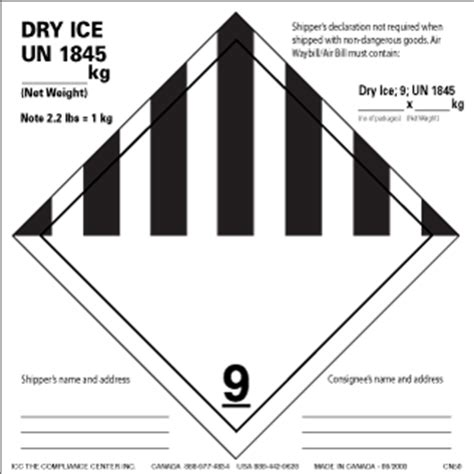 printable dry ice label icc gt labels gt shipping and handling gt dry ice wet ice