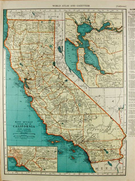 california antique united states world map home