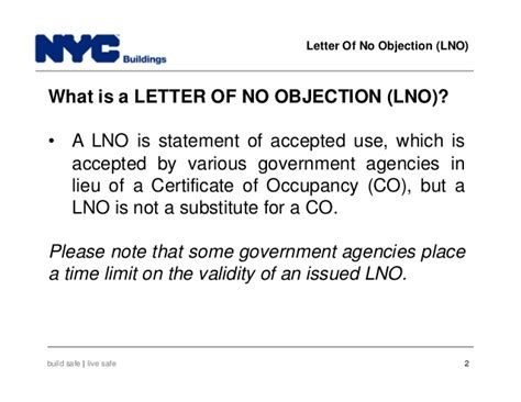statement of no objection new york city department of buildings filing rep course 105