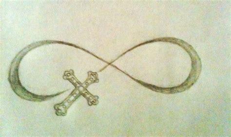 cross infinity tattoo design by hannah hill tattoo