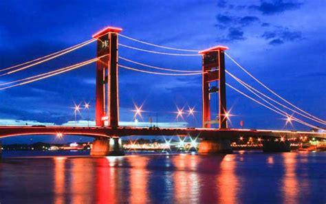 paket  palembang jembatan ampera sungai musi