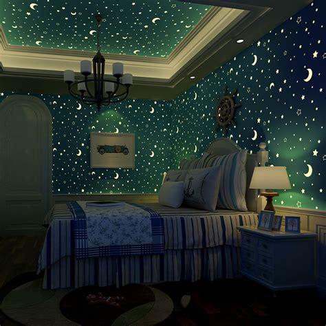 bedroom with stars menina papel de parede vender por atacado menina papel