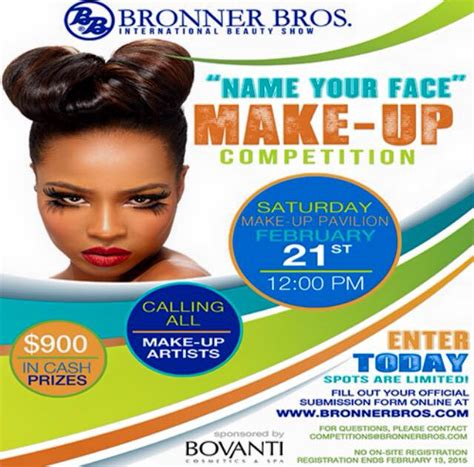 bronner brothers show 2015 bbbeautyshow name your face make up competition bronner