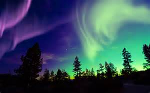 Aurora borealis also known as the northern lights