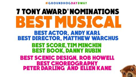 groundhog day awards groundhogdaymusical ghdmusical