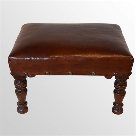 Low Foot Stool by Footstool Gout Stool Small Low Leather Foot Rest