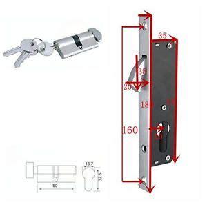 Patio Door Locks Replacement New Home Sliding Glass Patio Door Mortise Locks Replacement Single Hook Lock Set Ebay
