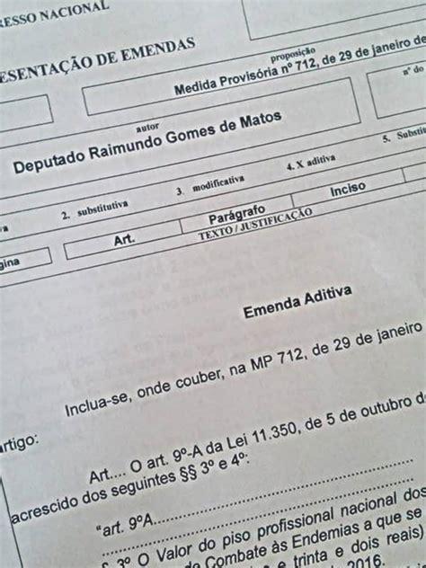 piso nacional de agentes de edemias 2016 deputado prop 245 e emenda para reajustar piso nacional dos