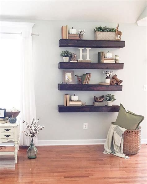 how to decorate a wall shelf 35 floating shelves ideas for different rooms digsdigs