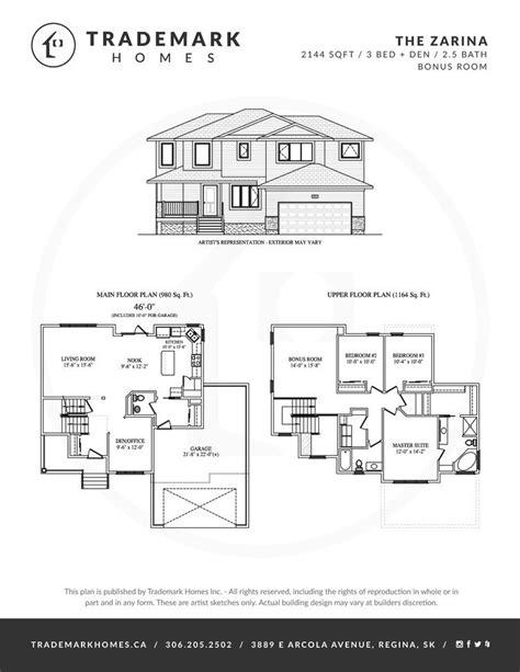 trademark homes floor plans trademark homes floor plans the zarina 2 storey trademark homes and area home