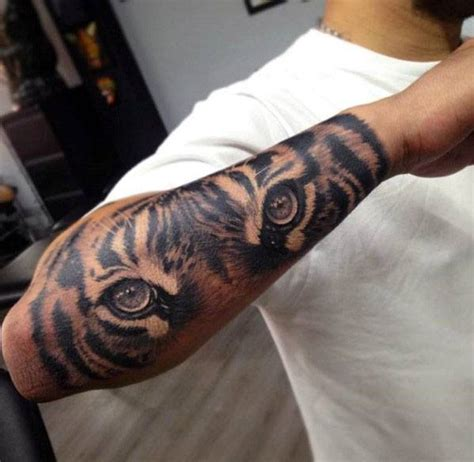 tiger forearm tattoo 40 tiger designs for realistic animal