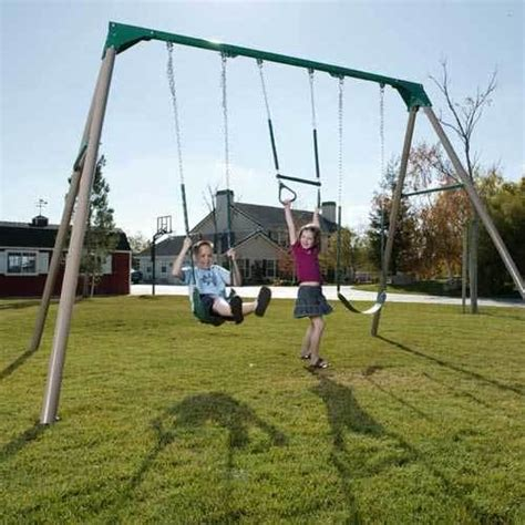 heavy duty metal swing set lifetime heavy duty 10 ft a frame metal swing set