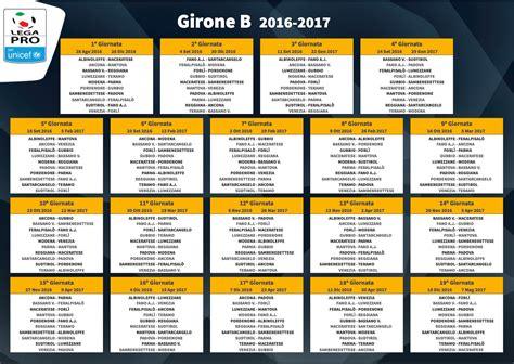 Calendario E Risultati Serie B Girone B Lega Pro 2016 17 Classifica Finale E Risultati
