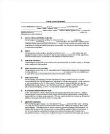 free rent agreement template blank lease template 6 free word pdf documents