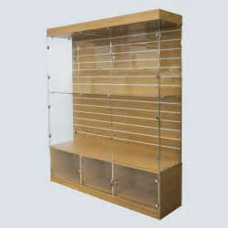 Wood Display Cabinets Uk Retail Display Cases Wood Finish Display With Slat