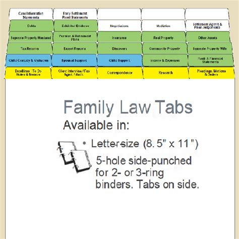 trial notebook template family index tabs