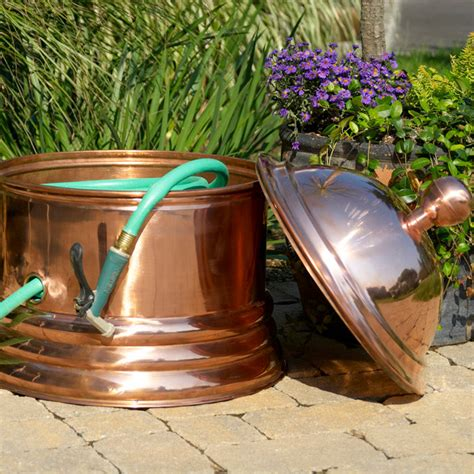Copper Garden Decor Palm Copper Hose Pot Eclectic Outdoor Decor Atlanta By Iron Accents