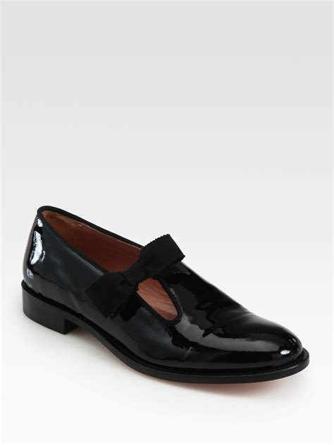 bow loafers valentino tuxedo patent leather bow loafers in black