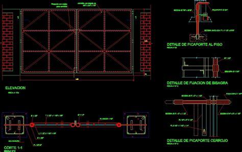 porte garage dwg detail garage iron door dwg detail for autocad designs cad