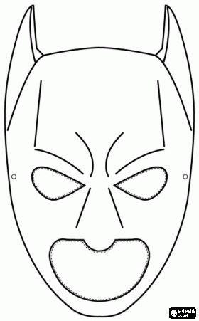 batman mask coloring pages printable batman mask coloring pages and coloring on pinterest