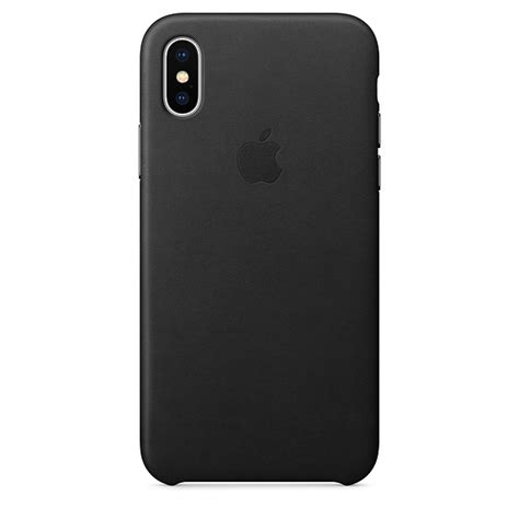 Apple Iphone X Leather Black iphone x leather black apple