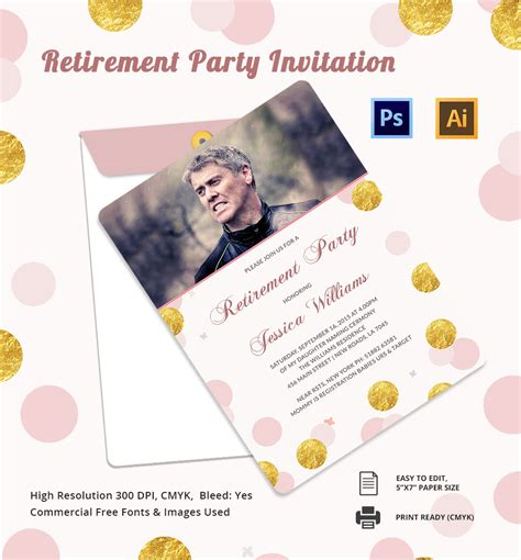 free templates for retirement party invitations free retirement