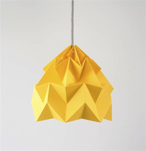 How To Make Paper Yellow - moth paper origami l paper origami lshades by