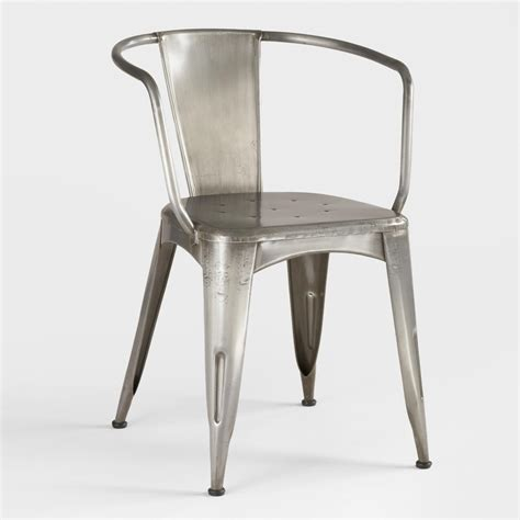 steel armchair galvanized steel chair home decorating ideas