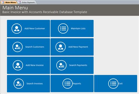 microsoft access accounts receivable template database