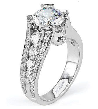 Michael Handcraft - from michael m collection handcrafted platinum engagement