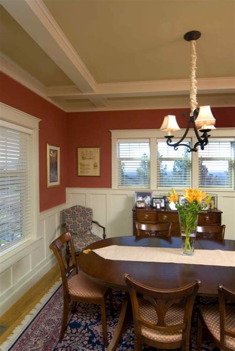 bungalow dining room interior elements of craftsman style house plans
