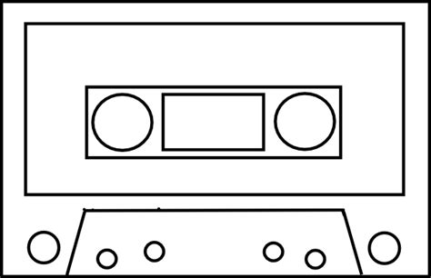 cassette template audio cassette outline simple clip at clker