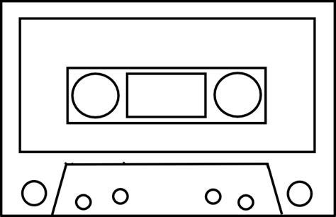 Cassette Template audio cassette outline simple clip at clker