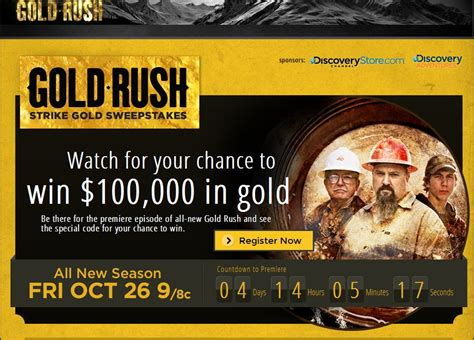 Gold Rush Giveaway - discovery channel gold rush strike gold sweepstakes