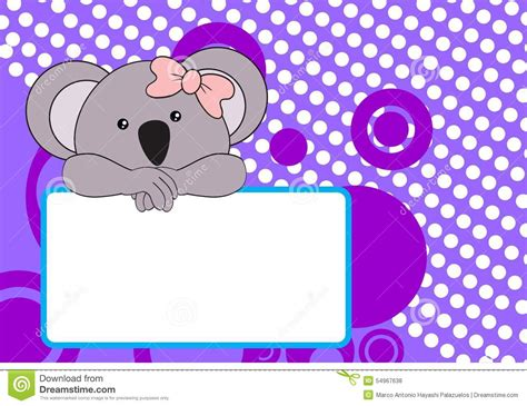 Cute Baby Koala Girl Background Stock Vector   Image: 54967638