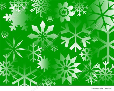 Illustration Of Green Flakes Free Clip Art Christmas Words