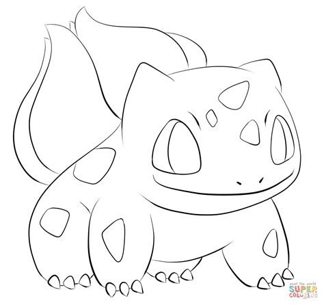 pokemon coloring pages bulbasaur bulbasaur coloring page free printable coloring pages