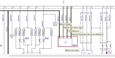 how to air mass meter amm maf coloured wiring diagram