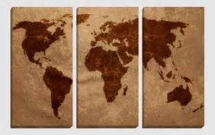 Stampato su canvas riproduzione di vintage globe cult mappamondo